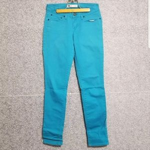 Levis Strauss Jeans 26 Skinny Low Rise Pants Teal